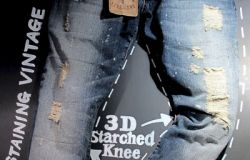 Extreme Vintage Wash Jean with 3D Effect