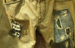 Patch Chino Jean Worn Look